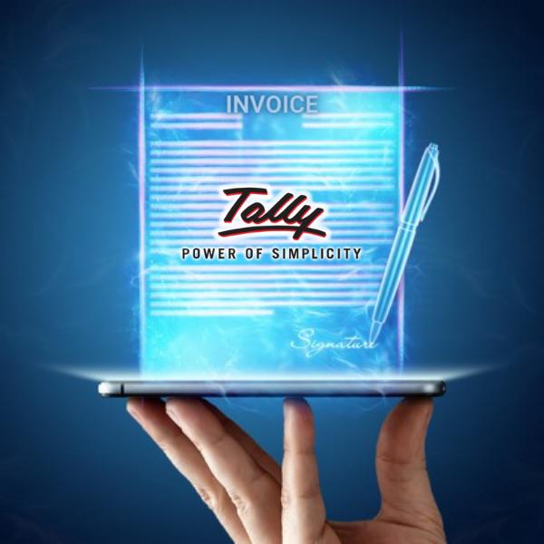 Digital Signature on Tally Invoice